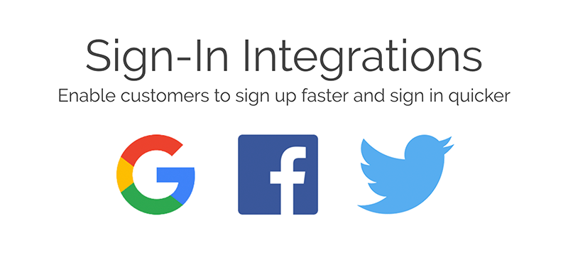 Easy login to Customer Portal with Google, Facebook or Twitter credentials